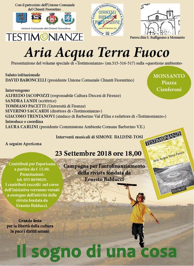 Aria Acqua Terra Fuoco - Testimonianze