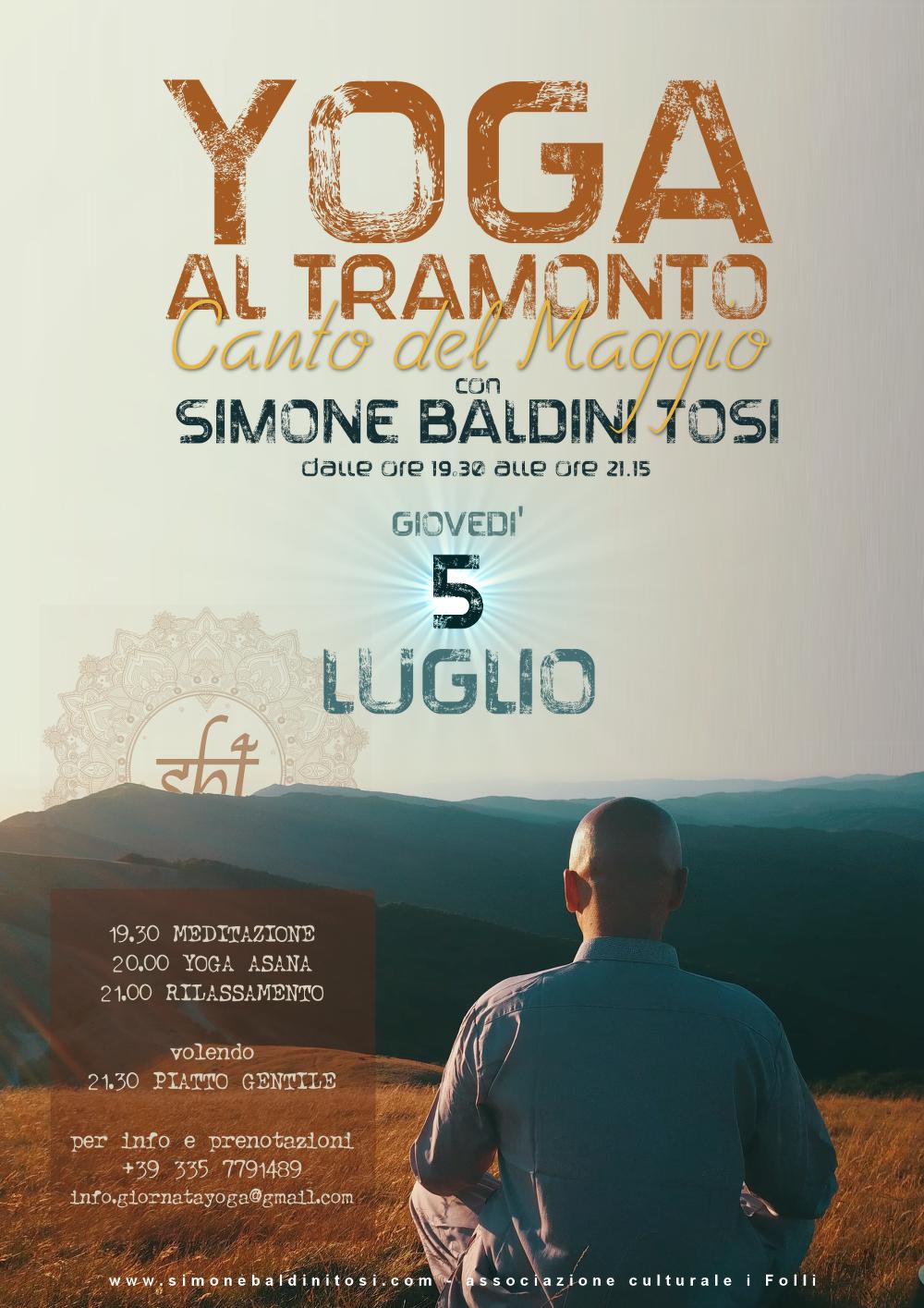 YOGA al tramonto con Simone Baldini Tosi